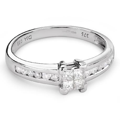"""Помолвочное кольцо с алмазами """"Принцессы 49"""""""