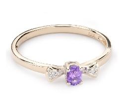 """Золотое кольцо с драгоценными камнями """"Краски 63"""""""