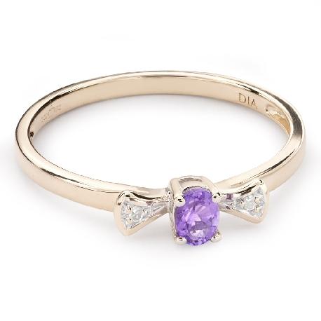 """Zelta gredzens ar dārgakmeņiem """"Krāsas 63"""""""