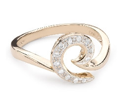 """Zelta gredzens ar Dimantiem """"Dzīve 32"""""""