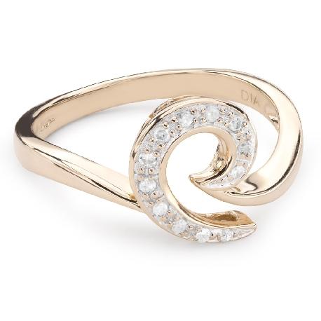 """Золотое кольцо с Aлмазами """"Жизнь 32"""""""