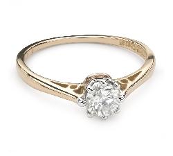 """Помолвочное кольцо с Бриллиантом """"Единственная 107"""""""