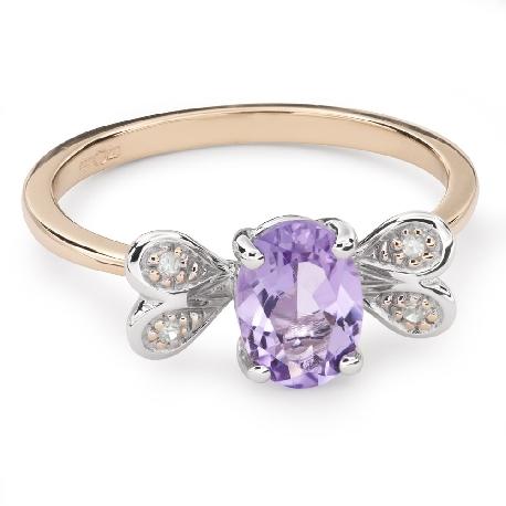 """Zelta gredzens ar dārgakmeņiem """"Krāsas 64"""""""