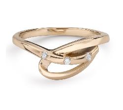 """Zelta gredzens ar Briljantiem """"Dzīve 34"""""""
