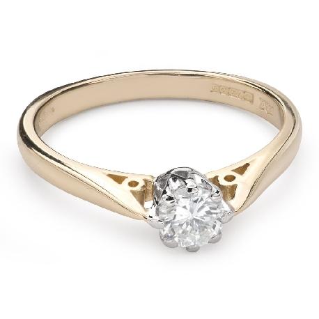 """Помолвочное кольцо с Бриллиантом """"Единственная 109"""""""