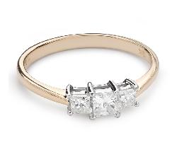 """Помолвочное кольцо с алмазами """"Трилогия 34"""""""
