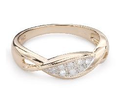 """Zelta gredzens ar Dimantiem """"Dzīve 35"""""""