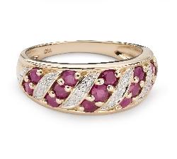 """Zelta gredzens ar dārgakmeņiem """"Rubīns 43"""""""