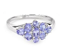 """Золотое кольцо с драгоценными камнями """"Краски 68"""""""