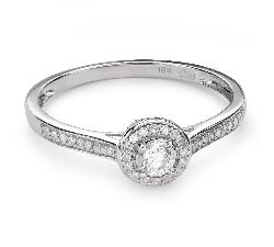 """Помолвочное кольцо с алмазами """"Бриллиантовый букет 50"""""""