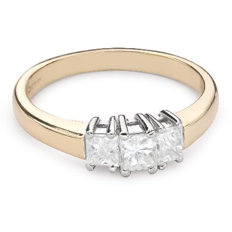 """Помолвочное кольцо с алмазами """"Трилогия 36"""""""