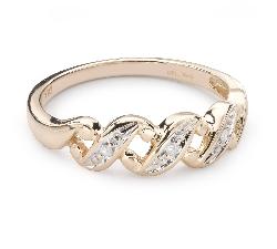 """Zelta gredzens ar Dimantiem """"Dzīve 38"""""""