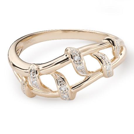 """Золотое кольцо с Aлмазами """"Жизнь 39"""""""