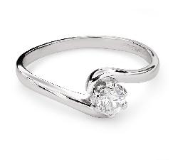 """Помолвочное кольцо с Бриллиантом """"В объятиях любви 44"""""""