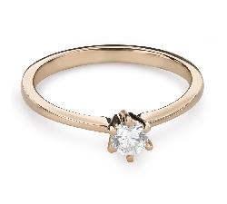 """Помолвочное кольцо с Бриллиантом """"Королева 37"""""""