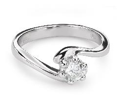 """Помолвочное кольцо с Бриллиантом """"В объятиях любви 45"""""""