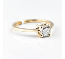 """Sužadėtuvių žiedas su Briliantu """"Stiprusis"""""""