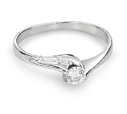 """Помолвочное кольцо с Бриллиантом """"Вихрь 34"""""""