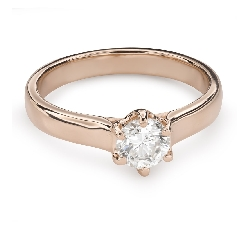"""Помолвочное кольцо с Бриллиантом """"Незабываемый 17"""""""