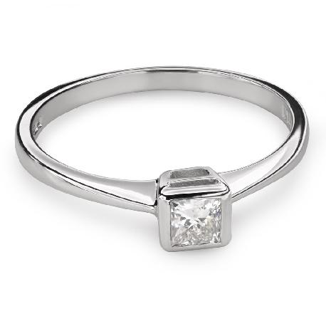"""Помолвочное кольцо с Aлмазом """"Принцесса 81"""""""