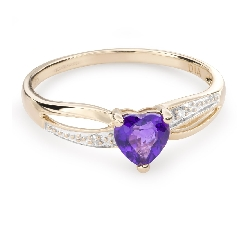 """Золотое кольцо с драгоценными камнями """"Краски 74"""""""