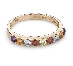 """Zelta gredzens ar dārgakmeņiem """"Krāsas 78"""""""