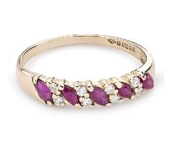 """Золотое кольцо с драгоценными камнями """"Краски 79"""""""