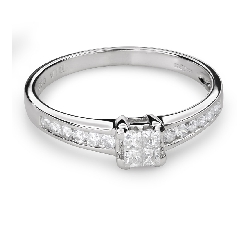 """Помолвочное кольцо с алмазами """"Принцессы 51"""""""