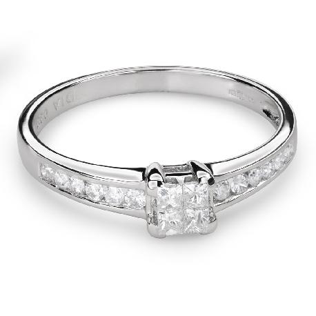 """Saderināšanās gredzens ar Dimantiem """"Princeses 51"""""""