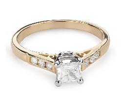 """Помолвочное кольцо с алмазами """"Принцесса 81"""""""