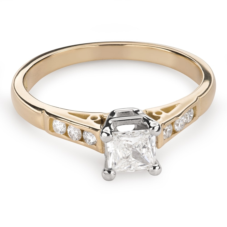 """Saderināšanās gredzens ar Dimantiem """"Princese 81"""""""