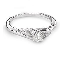 """Saderināšanās gredzens ar Dimantiem """"Viesulis 36"""""""