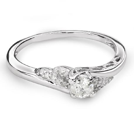 """Помолвочное кольцо с алмазами """"Вихрь 36"""""""