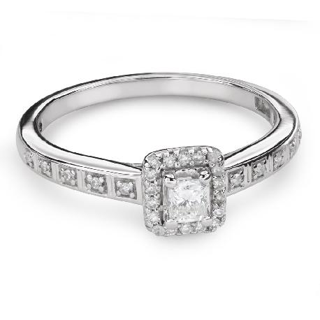 """Помолвочное кольцо с алмазами """"Незабываемый 18"""""""