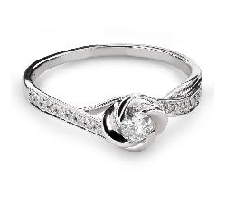"""Помолвочное кольцо с Бриллиантами """"Бриллиантовый цветок 43"""""""
