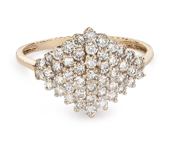 "Золотое кольцо с Бриллиантами ""Корона 22"""