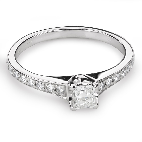 """Помолвочное кольцо с алмазами """"Грациозность 124"""""""