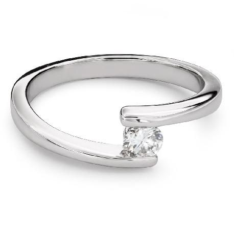 """Помолвочное кольцо с Бриллиантом """"В объятиях любви 47"""""""
