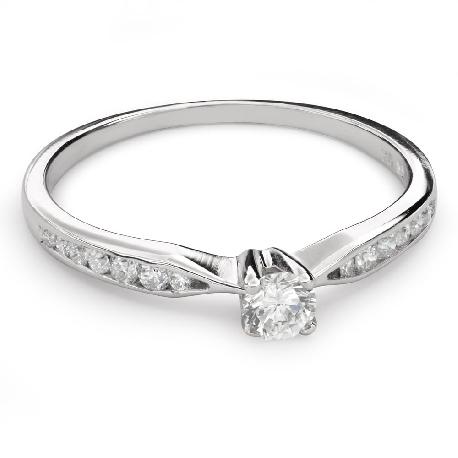 """Помолвочное кольцо с Бриллиантами """"Грациозность 125"""""""