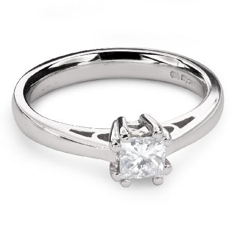 """Помолвочное кольцо с Aлмазом """"Принцесса 85"""""""