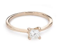 """Saderināšanās gredzens ar Dimantu """"Princese 86"""""""