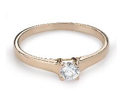 """Помолвочное кольцо с Бриллиантом """"Прочность 106"""""""