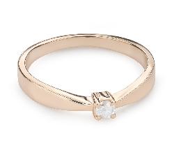 """Помолвочное кольцо с Бриллиантом """"Богиня 130"""""""