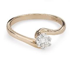 """Saderināšanās gredzens ar Briljantu """"Mīlestības apskāvienos 48"""""""