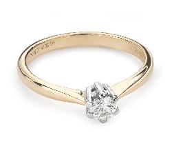 """Помолвочное кольцо с Бриллиантом """"Королева 42"""""""