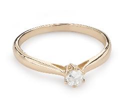 """Помолвочное кольцо с Бриллиантом """"Чистая 39"""""""