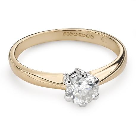 """Помолвочное кольцо с Бриллиантом """"Единственная 116"""""""