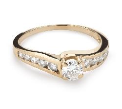"""Помолвочное кольцо с Бриллиантами """"Грациозность 126"""""""