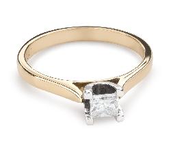 """Saderināšanās gredzens ar Dimantu """"Princese 88"""""""