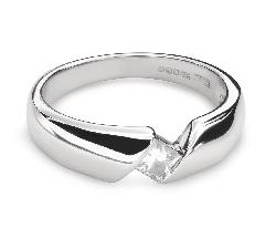 """Saderināšanās gredzens ar Dimantu """"Starp klintīm 35"""""""